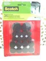 Scotch Felt Pads Value Pack Brown Assorted Sizes 36 Count (SP846-NA) sealed new! image 2