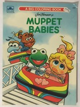 Muppet Babies by Golden Books 1991 A Big Coloring Book On A Roller Coaster - $13.85