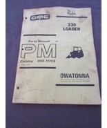 Owatonna 330 Skid Steer Loader Parts Manual Original 1973 - $34.77