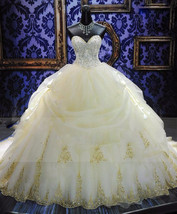 Plus sized Beaded Ball Gown Wedding Dress  at Bling Brides Bouquet Onlin... - $499.99