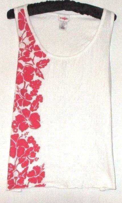 Primary image for WOMEN'S NEW WHITE/RED PRINTED TANK SIZE XL