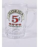 "Florida 5 Cent Beer 2.75"" Collectible Mini Mug Shot Glass  - $8.54"