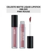 KISS NEW YORK PROFESSIONAL CELESTE MATTE LIQUID LIPSTICK KMLS05 PINK ROUGE - $4.84
