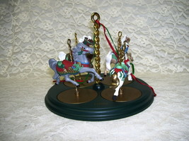HALLMARK CAROUSEL HORSE SET 4 PC 1989 - $28.04