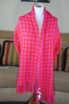 NWT ANN TAYLOR LOFT  Knit Fringed Shawl Scarf Houndstooth - $9.50