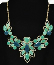 "$44 Designer Macy's  Crystal Open-Work Bib Necklace 18"" +3"" extender VIDEO - $20.79"