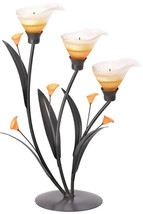 Gifts and Decor Amber Lilies Flower Decorative Tealight Candle Holder - $60.88