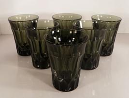 Noritake Glass PERSPECTIVE Green 10-oz Flat Drink Tumbler (s) LOT OF 6 - $39.55