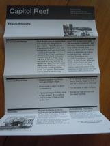 Capitol Reef Flash Floods National Park Services Brochure 1997 - $1.99