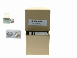 """Guardhouse Tan/Large Dollar Coin Box with 100 flips, 2"""" x 2"""" x 8.5"""" - $10.99"""