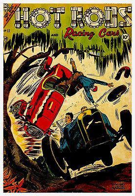 Primary image for Hot Rods and Racing Cars #17 - 1951 - Comic Book Cover Poster