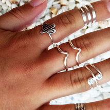 Double Peak Ring,  Women's Ring, Silver 925 Ring , Open Ring, Adjustable... - $26.75