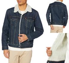 Levi's Strauss Men's Sherpa Lined Cotton Denim Jean Trucker Jacket 163650115 image 1