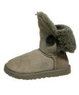 UGG 5803 Australia Bailey bootie shearling fur gray one button leather s... - $38.60