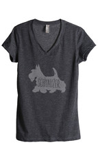 Thread Tank Schnauzer Dog Silhouette Women's Relaxed V-Neck T-Shirt Tee ... - $24.99+