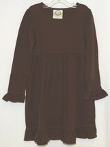 Blanks Boutique Long Sleeve Empire Waist Brown Ruffle Dress Size 4T image 1