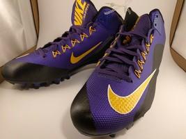 Nike 729444-518 New Mens Alpha NikeSkin Purple Yellow Football Cleats US Size 14 - $14.92