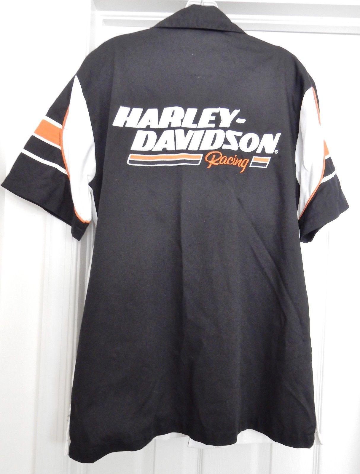 Harley-Davidson Racing Screamin' Eagle Garage Shirt Top S/S Cotton Blend Size M image 2
