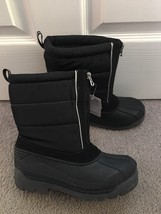 Kids Boys Girls Black Thermolite Lands End Boots Size 3 NEW - $18.99