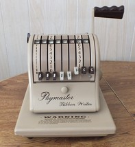VINTAGE OFFICE CHECK PRINTER PAYMASTER RIBBON WRITER SERIES 8000 WORKS G... - $39.27