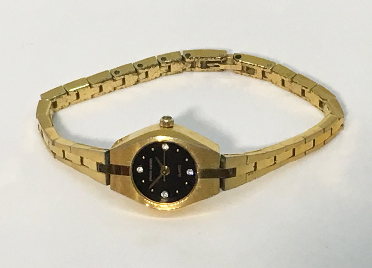 Primary image for Pierre Cardin Womens Watch Quartz • Gold Tone w/ 4 Diamond Accents • LPC309L