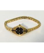 Pierre Cardin Womens Watch Quartz • Gold Tone w/ 4 Diamond Accents • LPC... - $17.77
