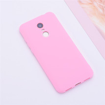 Color Matte Phone Cases For Xiaomi Redmi / Case Silicone Soft (Pink) - $14.99