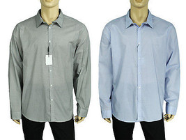 New Mens Calvin Klein Long Sleeve Slim Fit Cotton Button Front Shirt Xxl $79 - $28.99