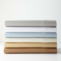 Ralph Lauren Prescott Sateen T500 Supima Cotton Queen Flat Sheet Ivory C... - $59.39