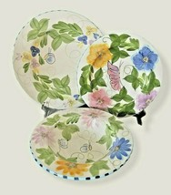 3 Pc LAURIE GATES PALISADES DINNER Plate SALAD Plate Soup BOWL 2001 BEES... - $34.64