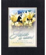 Jesus is Risen! 8 x 10 Inches Biblical/Religious Verses set in Double Be... - $11.14