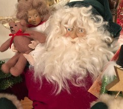 Dee Gann SANTA CLAUS  & ANGEL House of Hatten in CHAIR Tree + Bear & Sol... - $118.79