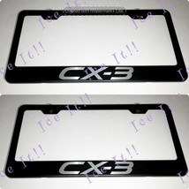 2X Mazda CX-3 Stainless Steel Black License Plate Frame Rust Free - $23.75