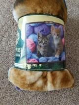 "Beautiful Northwest Raschel Throw Blanket Theme Kittens NEW, 50""x60"", Soft - $23.60"