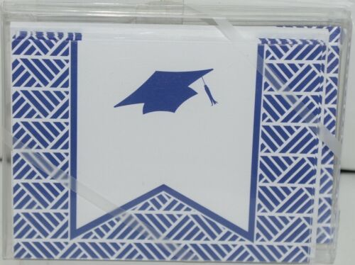 Rosanne Beck 2110954N Folded Note Grad Cap Cards Envelopes Blank Pkg 10 Navy