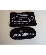 """Mr. Wonderful"" eye mask and pouch Black Los Angeles Trading Co. - $15.67"