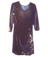 "Sz S - NWOT Navy Blue Beaded Dress w/19"" Side Slits  - $28.49"