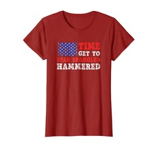 Dad Shirts - Time To Get Star Spangled Hammered T-Shirt Fourth of July Wowen - $19.95+