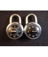Set of 2 Vintage MASTER COMBINATION LOCKS w/ Key hole backs V53 & combin... - $9.89