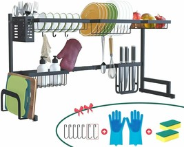 Brexla Length Adjustable Over the Sink Dish Drying Rack (33.1''~42.9'') ... - $114.48