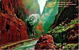Royal Gorge Canon Arkansas River Colorado CO Train UNP 1910s HHT Postcar... - $6.95