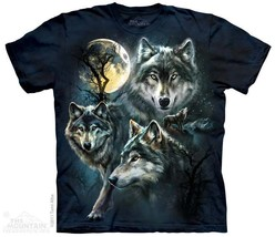 New MOON WOLVES COLLAGE T SHIRT - $18.95+