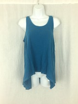 Women's steel blue cotton Vans Off the Wall spaghetti strap Tank top Size M New - $13.49