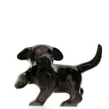 Hagen Renaker Dog Labrador Retriever Puppy Black Ceramic Figurine image 1