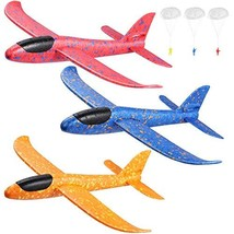 """Toyvian 3 Pack Airplane Toys,14.57"""" Foam Glider Plane,Manual Throwing,Fun Challe"""