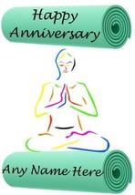 Yoga mat card Anniversary A5 Personalised Card Code989 wife partner husb... - $3.92