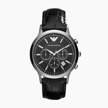 Emporio Armani Classic Black Chronograph Dial  Leather Men's Watch AR2447 - $129.00