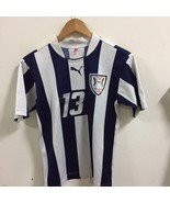 Puma Made In Japan Whites Striped Jersey Size S Small FOOTBALL Soccer JE... - $26.73