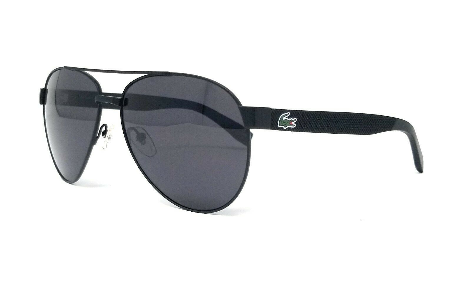 Primary image for LACOSTE Men's Pilot Sunglasses L185S 001 Matte Black Grey L185 60mm Large NEW