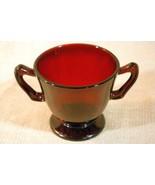 Anchor Hocking Royal Ruby Open Sugar Bowl - $4.40